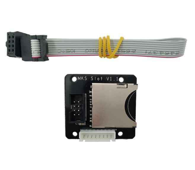 3D Các Bộ Phận Máy In MKS Khe Cắm V1.1 SD Mở Rộng Mô-đun Bên Ngoài Kết Nối Đầu Đọc Thẻ Adapter cho MKS TFT32/MKS TFT28