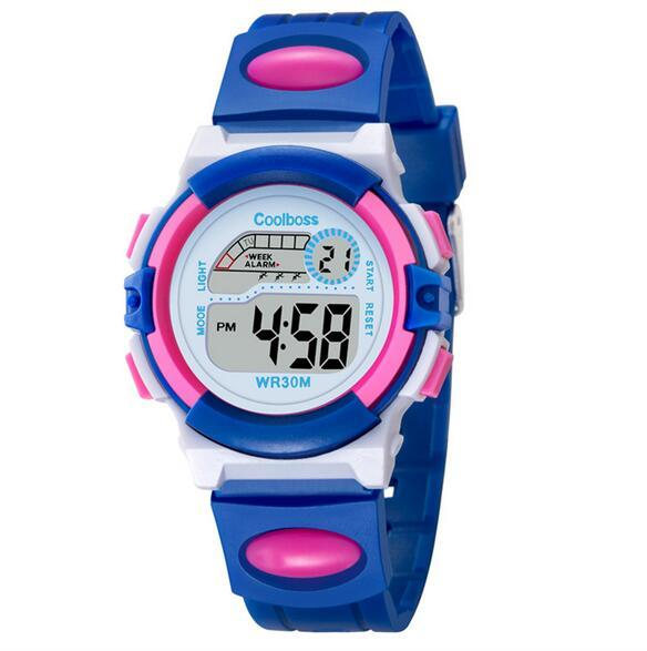 COOLBOSS New Fashion Clock Children Sports Water Resistant Watches Watch Boys An