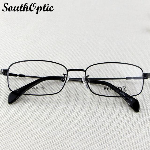 Lentes de fotograma completo Unisex de titanio de memoria Flexible templos cómodo aprendidas gafas negro prescripción enmarca 3125