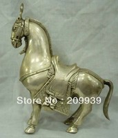 fast ship Hd099 collectable Tibet silver featurely horse statue (A0321)