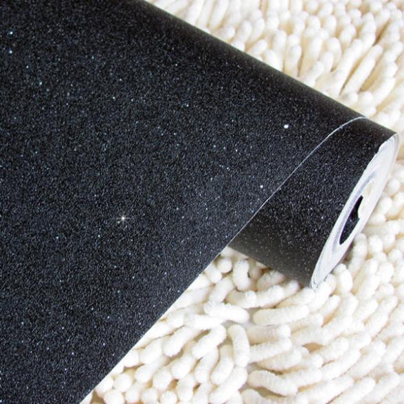 Schwarze Tapete Schlafzimmer : Silver Glitter Wall Paper