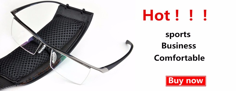 Half-rim-Glasses-Titanium-Eyeglasses-Frame-Men-Optical-Frame-Reading-Clear-lens-Computer-Myopia-Frame-suit
