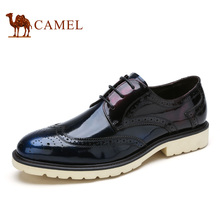Camel 2016 new design men's office shoes cow leather shoes  Pibuluoke carved British style fashion men dress shoes  A632148390