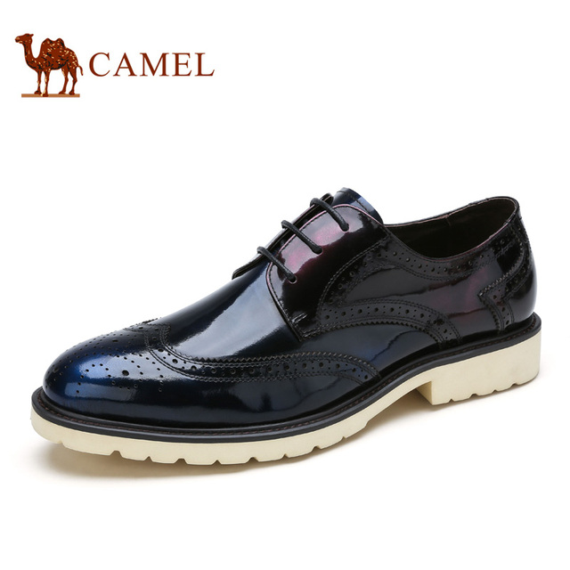 Camel 2016 New Design Men S Office Shoes Cow Leather Pibuluoke Carved British Style Fashion