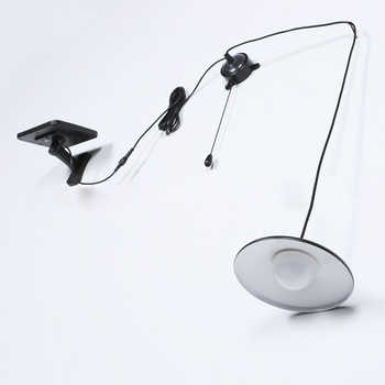 BORUiT Remote Solar Light Waterproof SMD LED Shed Light Remote Control Hanging Lamp Garden Lawn Lights For Glass Sunlight House