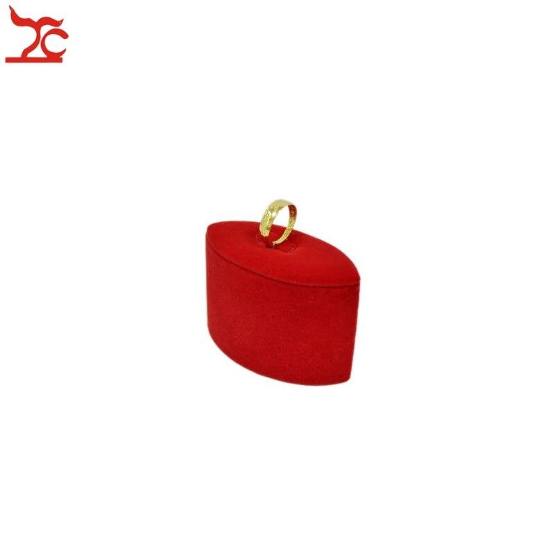 e866ba2ec4d1 Envío libre joyería del terciopelo display Torre boda joyería organizador anillo  soporte de exhibición 8 4 5.5 cm
