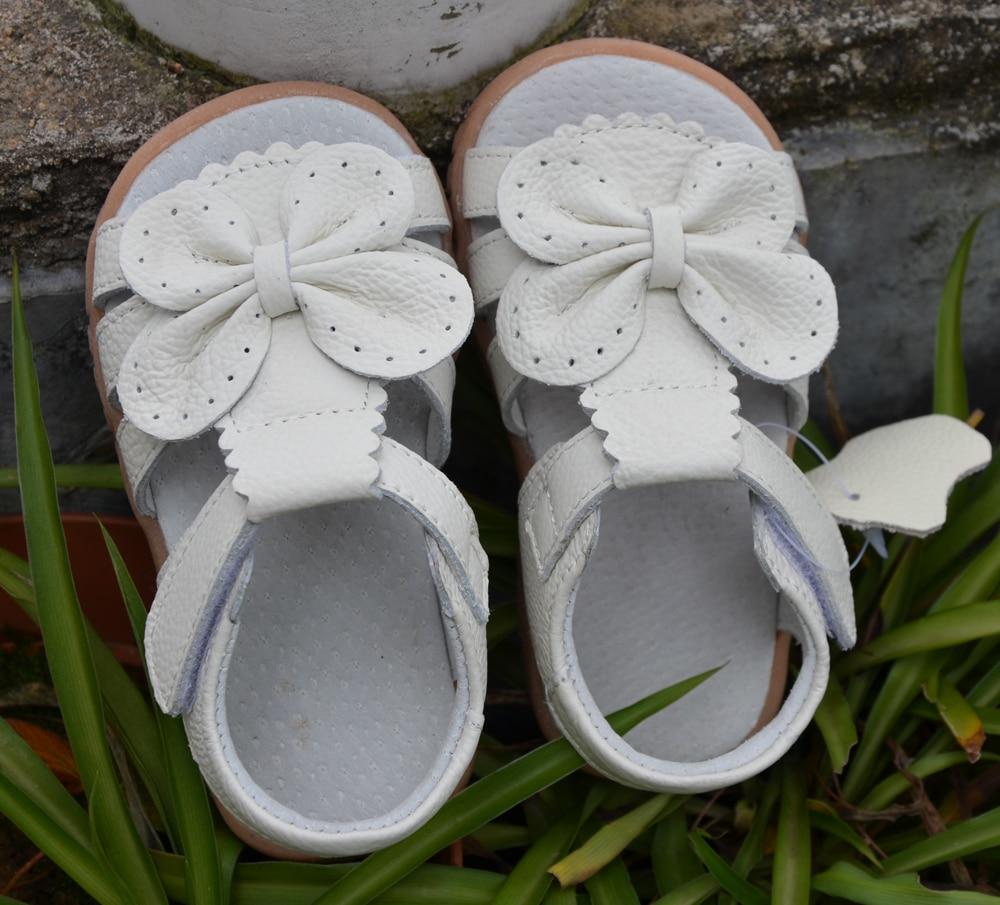 2016 nuevas sandalias de las muchachas del cuero genuino zapatos - Zapatos de niños - foto 2