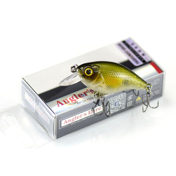 46mm 6.8g Countbass Floating Chatterbait Wobbler Lures for Fishing, Crank Bait Hard Plastic Lures for Salmon Trout Bass Pike