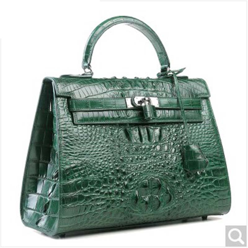 luodungongniu Fashion Bag crocodile skin large capacity single shoulder women handbag leisure handbag new luxury real eather yuanyu real snake skin women bag new decorative pattern women chain bag fashion inclined single shoulder women bag