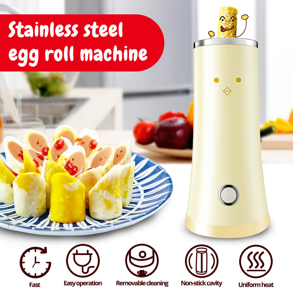 220V Electric Egg Roll Machine Egg Cup DIY Breakfast Machine Automatic Rising Egg Roll Maker Omelette Master Sausage Machine220V Electric Egg Roll Machine Egg Cup DIY Breakfast Machine Automatic Rising Egg Roll Maker Omelette Master Sausage Machine