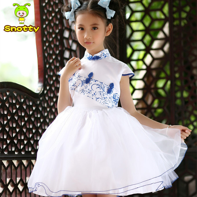 BL Chinese Style Kids Fashion Designer Dress Traditional Girls ...