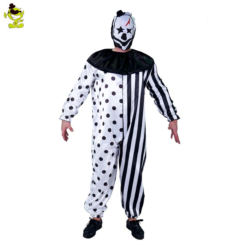 Scary Ghost Clown Killer Clown Adult Unisex Fancy Dress Costume