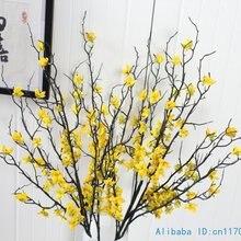 1 шт. 90 см красивый искусственный зимний жасмин пластиковая ветка с желтыми цветами украшение дома F408