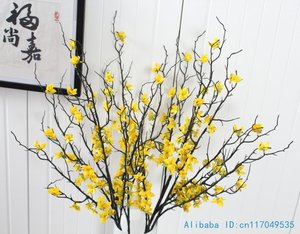 1 PCS 90 cm Beautiful Artificial Winter Jasmine Plastic Branch with yellow flowers Home Decoration F408