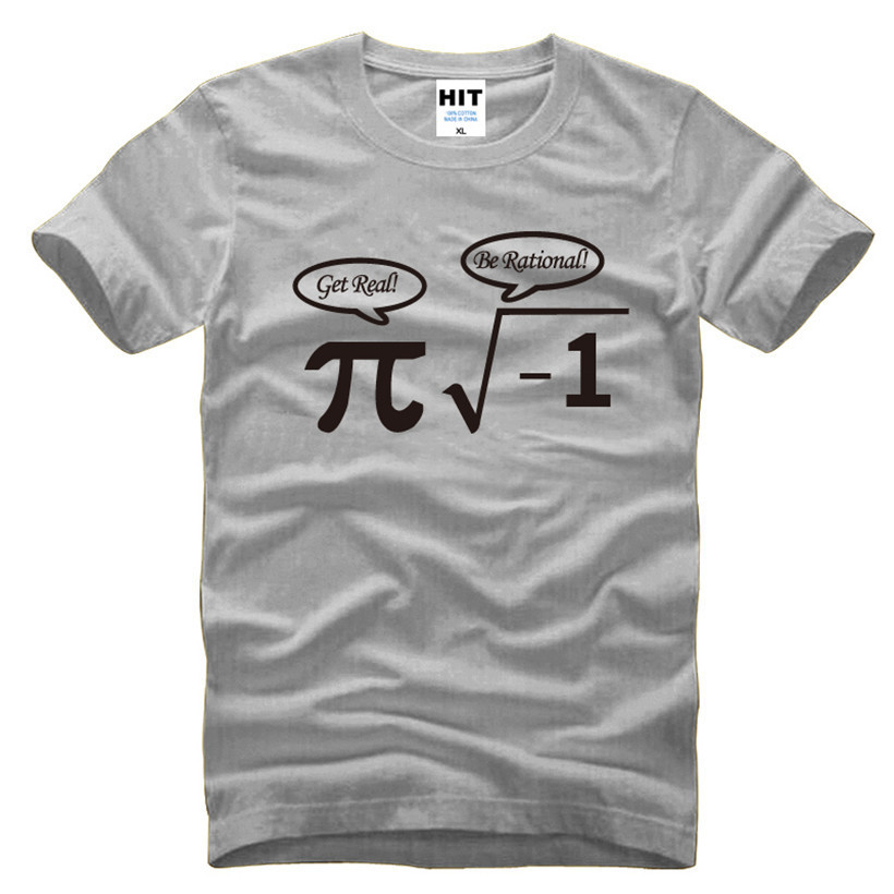 Be Rational Get Real Nerdy Geek Pi Nerd Funny Math Mens Men T Shirt Tshirt 2016 New Short Sleeve Novelty Cotton T-shirt Tee