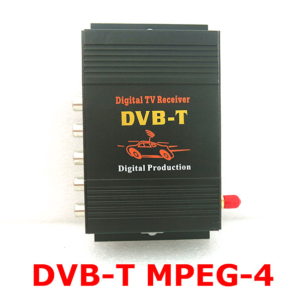 CAR DVB-T MPEG-4 digital tv box DVB-T MPEG-4 HD Digital TV receiver work in EU автомобильные телевизоры mdh car hd dvb t