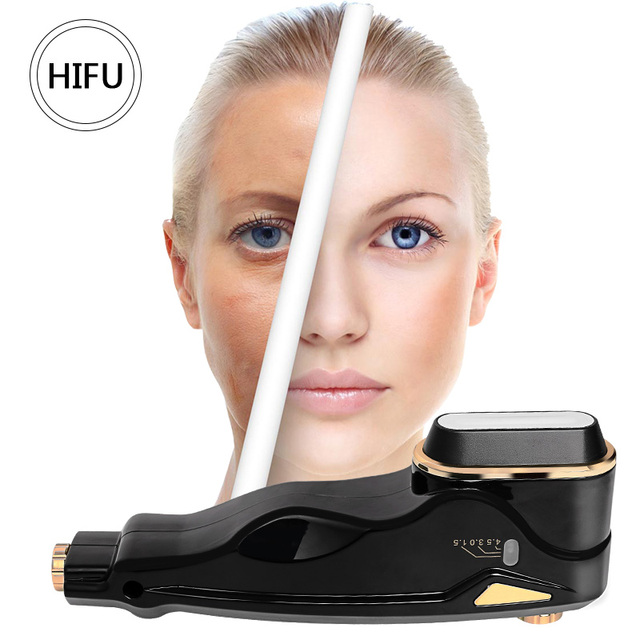 Newest Mini Hifu Focused Ultrasound RF Face Neck Lifting Beauty Massager Wrinkle Removal Tightening Radio Frequency