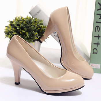 Spring and autumn new women's high-heeled shoes waterproof platform stiletto large size single shoes 2018 new women's shoes Pumps