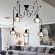 Vintage Art LED Pendant Lights Nordic Loft Iron Lampshade Pendant Lamp Living Room Cafe Bar Deco Lighting Hanging Lamp Luminaire black iron candle pendant lights loft vintage antique art deco sconce pendant hanging lamp fixture lampadari acciaio tree branch
