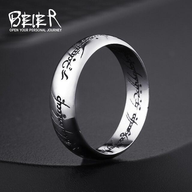 Beier mới store100 % 925 bạc Sterling Carbide một Nhẫn Quyền Lực Rộng 6mm Nhẫn cưới Trang sức Thời trang BR-SR004