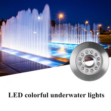 Led Fountain Light Underwater 18W Full Color RGB Swimming Pool Pond Strong Waterproof AC/DC 12V 24V