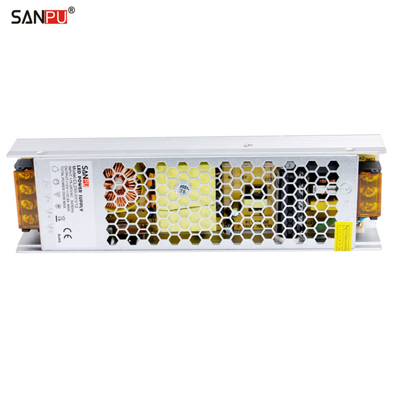 SANPU SMPS LED Transformer 12V 300W 25A Constant Voltage Switching Power Supply Driver 220V AC Input Indoor Use Fanless for LEDs