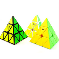 Brand Moyu Magnetic Pyramid Pyraminx 3x3x3 Black White Stickerless Magic Cube Speed Puzzle Cubes Educational Toys