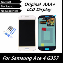 100% Original LCD for Samsung Galaxy Ace 4 SM-G357 G357 G357FZ LCD Display with Touch Screen Digitizer Assembly White Color