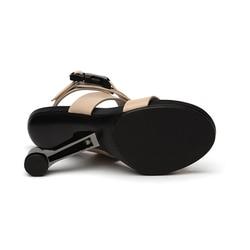 Gladiator Sandals Women Footwear Metal Strange Heel Sexy Shoes Woman High Heels Women Sandals HL54 MUYISEXI 4