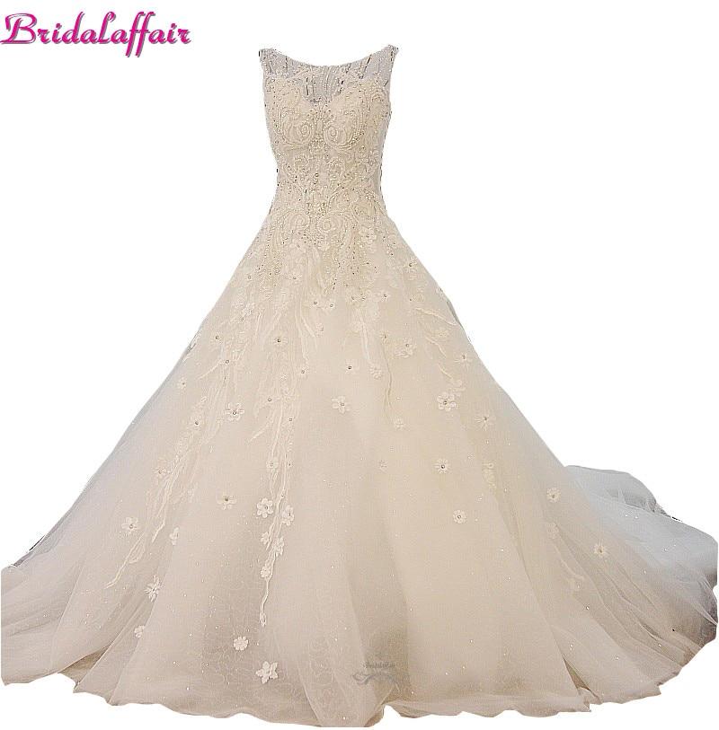 Luxury Lace  Wedding Dress Designer Pearl Beading Bridal Vestido De Noiva Robe De Mariage Vestido De Noiva Curto 2018 Customize