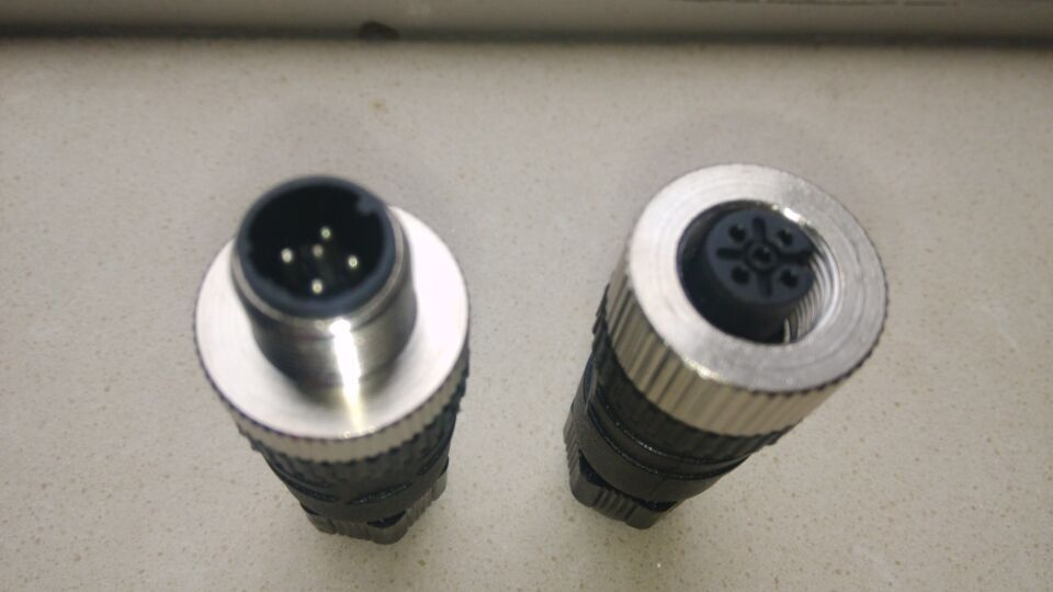 M12 aviation plug 4 core 5pins straight female or male plugs sensor connector socket connectors welding 4 pins core aviation circular connector plug 500v 50a