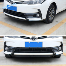 Lapetus Front Fog Lights Lamp Eyelid Eyebrow Strip Cover Trim 2Pcs Fit For Toyota Corolla 2017 2018 Stainless Steel Accessories