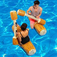 4 Pcs Float Game Water Raft Kick Bumper Inflatable Swimming Toys Water Fun Inflatable Ride ons floating toy party water games