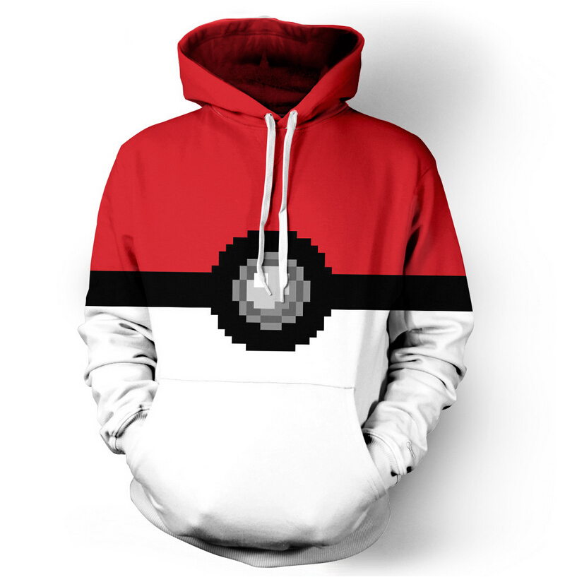 Pokemon Pokeball Catch Em All 3d hooded Women Men Sweatshirts Fashion Hoodies Outfits Casual Sweats plus size S-3XL