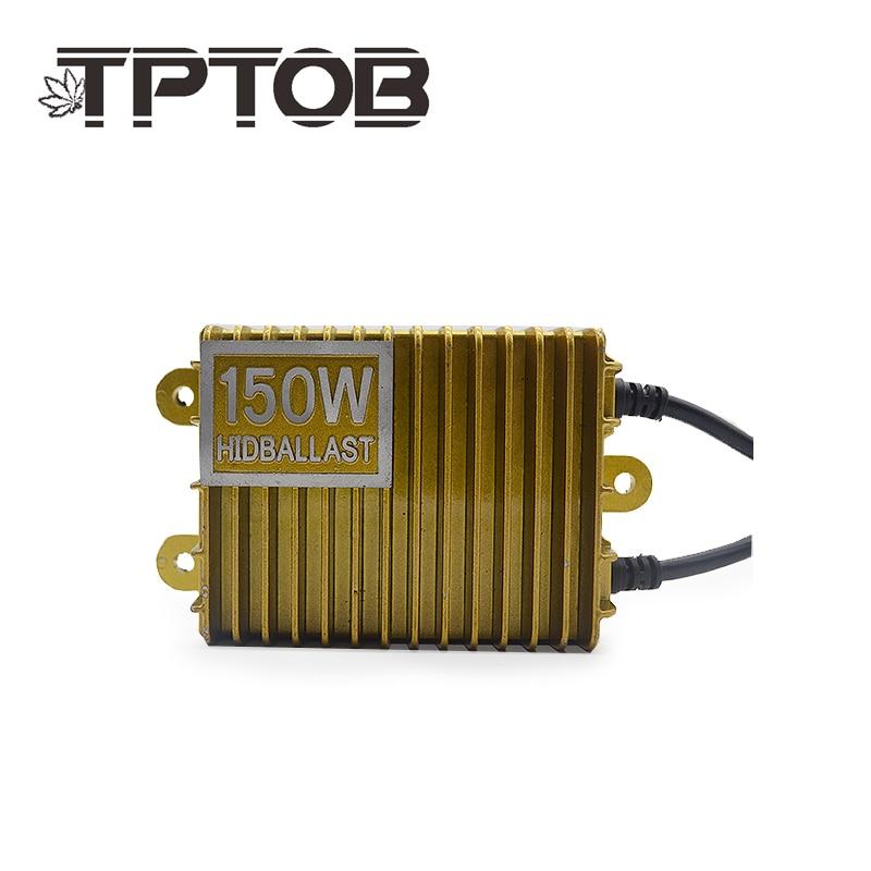 TPTOB 2 pièces 150 W Remplacement D1S D3S CACHÉ lampe Au Xénon ballast kit phare 55 w 12 V H1 H3 H4 H7 H11 9005 9006 6000 K