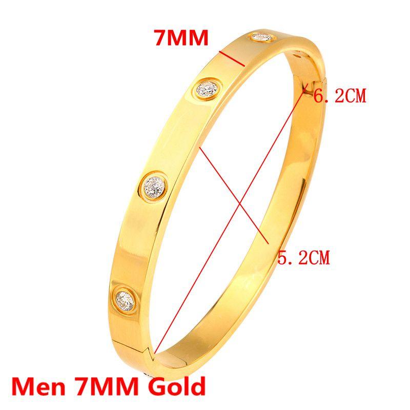 Men 7MM Gold
