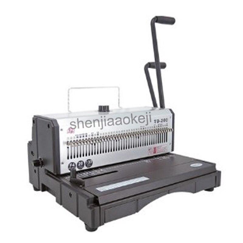 Heavy-duty Wire binding machine Office Machine 40 Holes Binder Manual Binder 20sheets punch machine 130 sheets binding