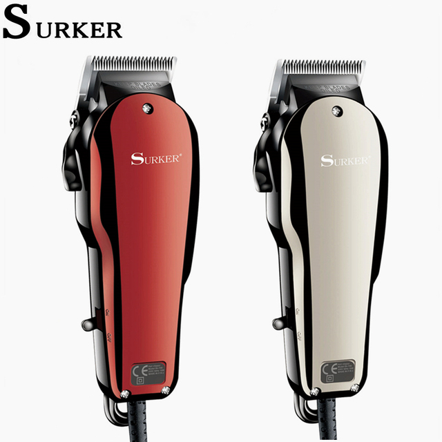 Surker Professional Hair Clipper Electric Men Hair Trimmer Vintage Hair style Haircut Machine 1.9M Cord Barber Clippers