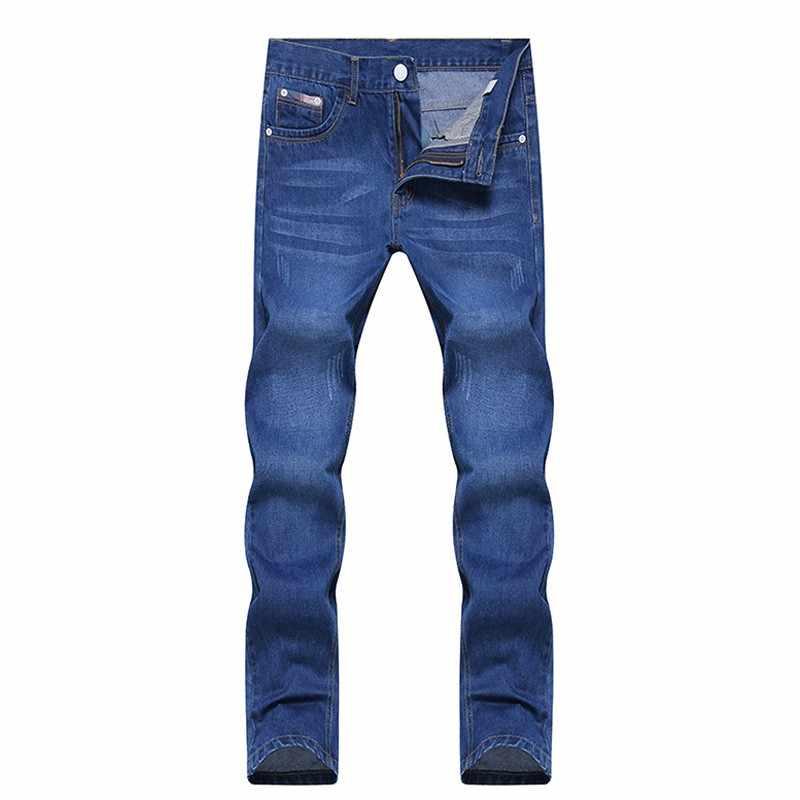 2019 новые стильные мужские повседневные брюки высокого качества, упругие мужские джинсы, модные классические джинсы, обтягивающие мужские джинсы