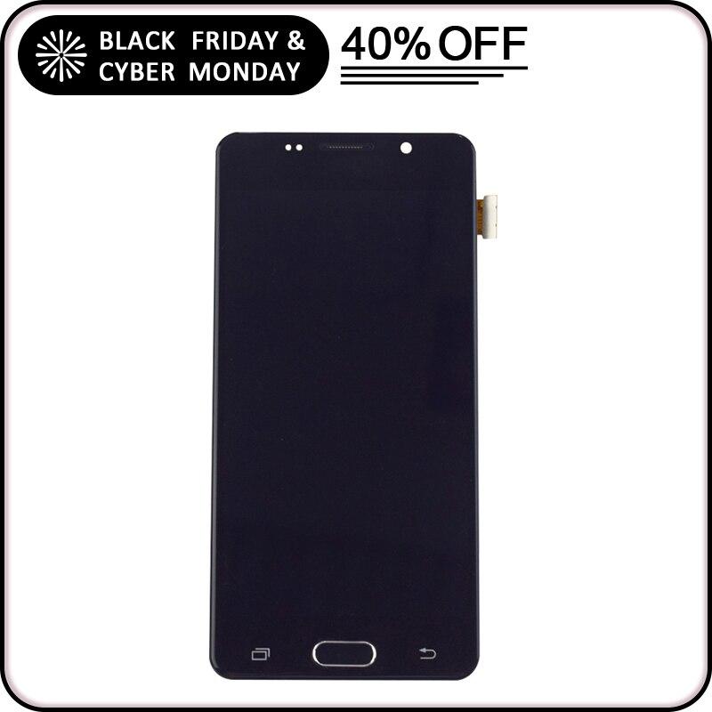 Für Samsung Galaxy A5 2016 A510 LCD A510F A510M SM-A510F LCD Display Modul + Touch Screen Sensor Glas Montage Rahmen