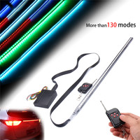 Waterproof 56cm 48 LED 7 Color RGB Car Flashing Strobe Strip Light Kit Flexible Soft Bar