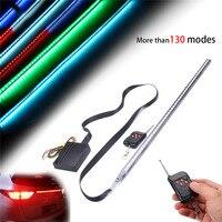 Waterproof 56cm 48 LED 7 Color RGB Car Flashing Strobe Strip Light Kit Flexible Soft Bar
