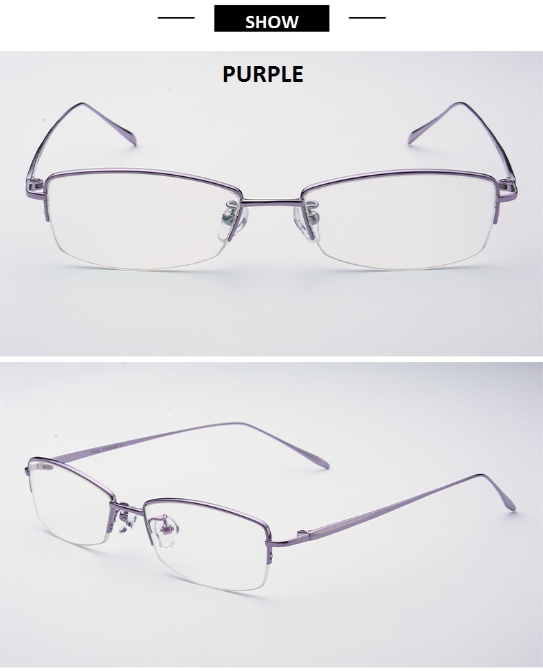 8b3bc22367b 52 17 138 Ultra light titanium half frame glasses frame of female ...