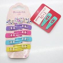 12 Pcs /set fancy hair clips girl's cute basic hair snap clips fashion hair pins kid's hair accessories