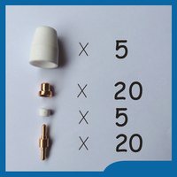 50pcs PT 31 LG 40 Plasma Cutting Cutter Torch Consumables KIT Electrodes TIPS Nozzles Fit CT
