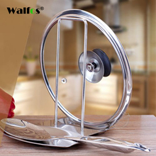 New Arrival Stainless Steel Pot Lid Shelf Cooking Storage Pan Cover Rack Stand Spoon Holder