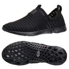cd466ad3144a Aleader 2017 New Breathable Mens Shoes Summer Slip On Beach Shoes Flat  Ladies Walking Water Shoes