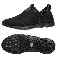Aleader 2017 nuevos zapatos transpirables para Hombre Zapatos de verano deslizantes en la playa zapatos planos de mujer zapatos de agua de malla zapatos casuales zapatillas