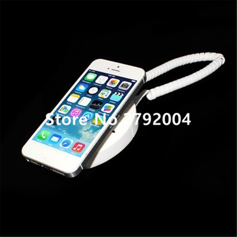 5 set/lot Anti-Theft Security Cell Phone Holder Smartphone Alarm Charging Display Stand hanging wall style 5 set lot cell phone security anti theft display stand with alarm and charging function for mobile phone retail store exhibition