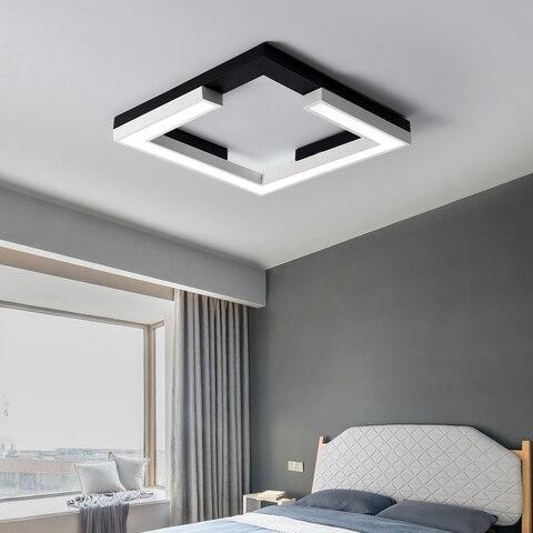 luzes de teto quadrado branco preto